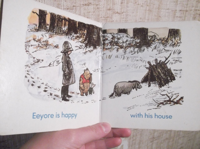 eeyore is happy with his house