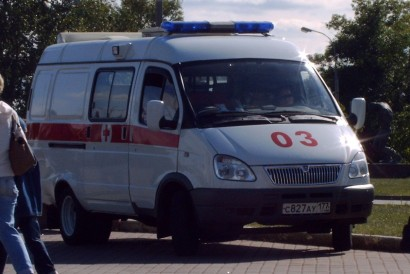 An ambulance.